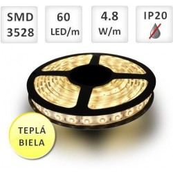 LED pás 4,8W WW IP20