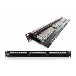 Patch panel 24 port netienený cat5e 19""