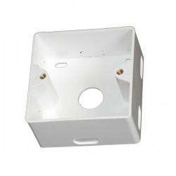 Krabička pod zásuvku RJ45, 80x80x35, plastová, biela