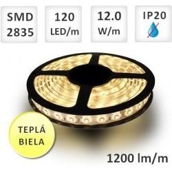 LED PÁSIK 120X SMD2835 12W/M TEPLÁ BIELA IP20