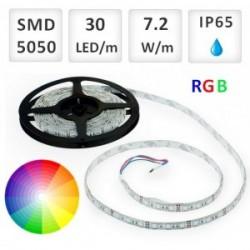 RGB LED PÁSIK 30 SMD5050/M, 7.2W/M, 1M IP65